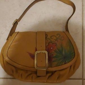 COLE HAAN handpainted leather handbag hobo